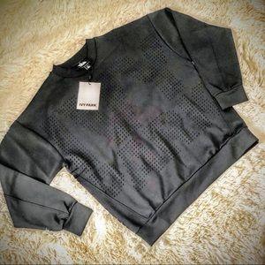 🐝 IVY PARK 🐝 Black Laser Cut Sweatshirt